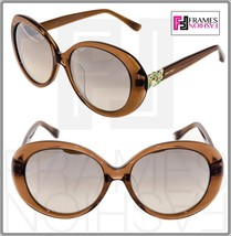Jimmy Choo Clem Translucent Brown Silver Mirrored Sunglasses Asian Fit CLEM/F/S - $240.57