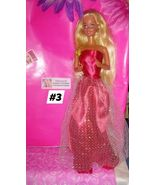 Unidentified Barbie #3 with clothes and shoes! Beautiful red dress! - $12.00
