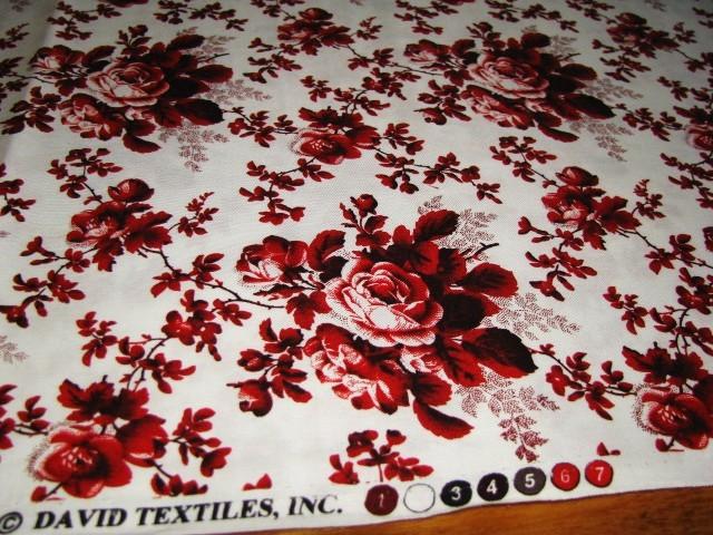 David textiles red roses 1