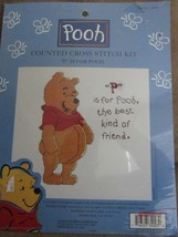 Winnie the Pooh Counted Cross Stitch Kit P is for Pooh New - $16.95