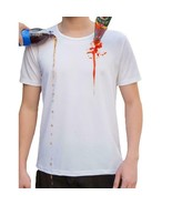 Men T Shirt Waterproof Hydrophobic Stain Proof Breathable Anti Dirty Qui... - $15.83+
