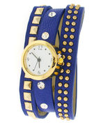Watch - Royal Blue Leather Wrap Wristwatch - 254029572 - $16.95