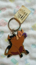 Disney Pumbaa Vinyl Figural Keychain ~ Applause: New Old Stock With Tag - $5.94