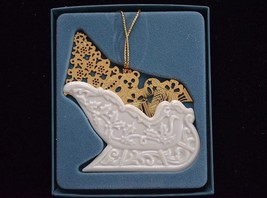 LENOX White Gold Sleigh Christmas Ornament  in Box n - $14.82