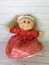 Cabbage Patch Kids Holiday Limited Edition Doll Blue Eyes With Red Dress... - $23.36