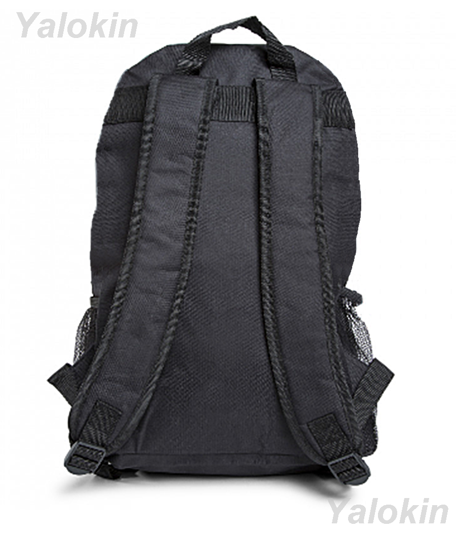 NEW Light Grey with Red Ripcord Unisex Fashion Backpack Shoulder Book Bag