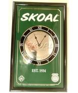 Vintage 1996 SKOAL Wall Clock for Home Bar Man Cave Wall Decor Green Bla... - $99.78
