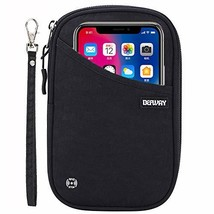 Travel Wallet RFID Blocking Document Organizer Bag, (#6 Black Small Hand... - $24.29