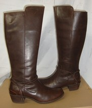 UGG CIERRA Tall Lodge Brown Deco Wrap Ankle Leather Boots Size US 9 NIB 1008714 - $137.56