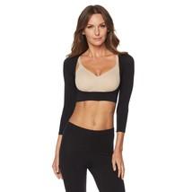 Rhonda Shear Seamless Long-Sleeve Arm Smoother in Black, Medium - $26.72