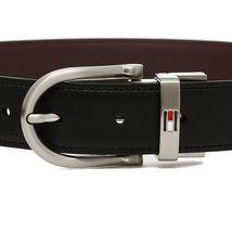 Tommy Hilfiger Men's Set Reversible Leather Belt Removable Buckle 11TL08X012 image 5