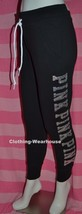 Victoria's Secret PINK Skinny Jogger Bling Sweatpants Pants Black S Small NEW - $89.99
