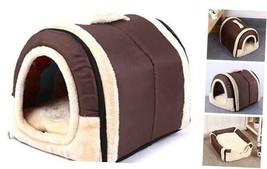 Haresle Portable Small Pet House Soft Bed Cat House Washable with Medium... - $40.71