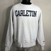 VTG Champion Reverse Weave Sweatshirt Warm Up Jumper Crew Neck 90s Carleton - $35.59