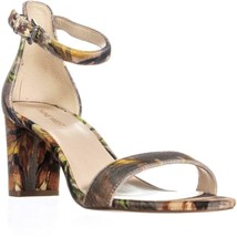 Nine West Pruce Ankle Strap Sandals, Taupe Multi, 10.5 US - $34.55