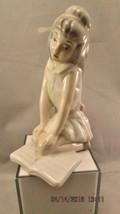 """TENGRA PORCELAIN Figurine """"GIRL Kneeling on Book"""" made in Spain - $9.49"""