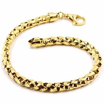 Bracelet Yellow Gold 18K 750, Braid, Pipe, Thickness 5 mm, Made in Italy - $1,322.29