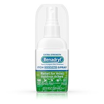 Benadryl Itch Relief Spray Extra Strength 2 oz Pack of 3