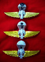 Royal Thai Army Parachutist Wings Badge PIN Thailand Military Lot of 3 Pins - $37.23