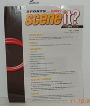 2005 Screenlife Sports Espn Scene it DVD Board Game Replacement Instructions - $9.50