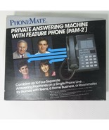 New Vintage PhoneMate PAM 2 Private Answering Machine With Feature Phone... - $96.49