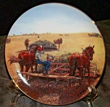 """""""Taking A Breather""""  commemorative plate by Emmett Kaye AA20-CP2306AA Farming th"""