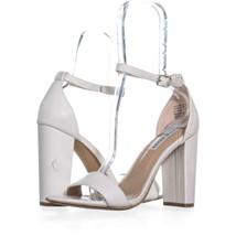 Steve Madden Carrson Ankle Strap Dress Sandals 464, White, 9 US - $25.91