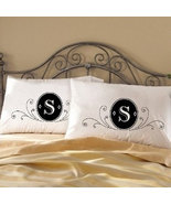 Two (2) Fancy deluxe Monogram bedding pillow case cover modern unique gi... - $19.99