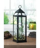 "Extra Tall Black Contemporary Pillar Candle Lantern 25"" High - $43.60"