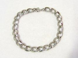 Vintage sterling silver bracelet 7.2'' long - $34.00