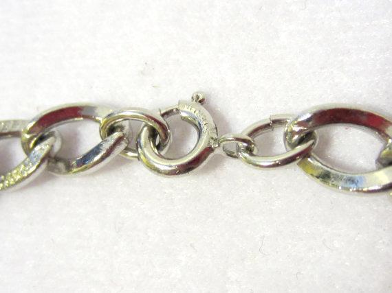 Vintage sterling silver bracelet 7.2'' long