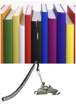 Snowmobile Pewter Emblem on a Pattern bookmark for books organisers code... - $13.18