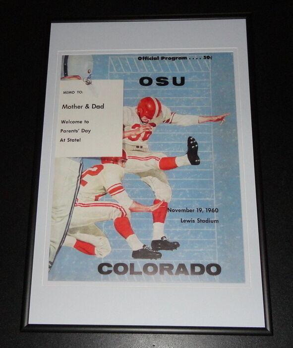 1960 Oklahoma State vs Colorado Football Framed 10x14 Poster Official Repro