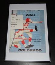 1960 Oklahoma State vs Colorado Football Framed 10x14 Poster Official Repro - $46.39