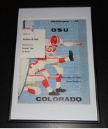 1960 Oklahoma State vs Colorado Football Framed 10x14 Poster Official Repro - $46.39