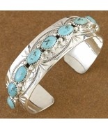 Genuine Native American Turquoise Sterling Silv... - $370.57