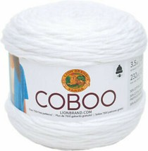 Lion Brand Coboo Yarn in White