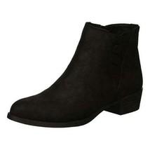 Carlos By Carlos Santana Women Ankle Booties Bert Size US 7.5M Black Zip Up - $34.94