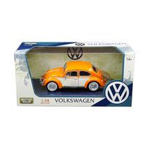 1966 Volkswagen Classic Beetle with Rear Luggage Rack Orange 1/24 Diecas... - $36.44