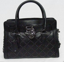 NWT! Michael Kors EW Microstud Leather Hamilton Satchel/Shoulder Bag in ... - $249.00