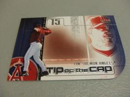"""2002 Fleer Genuine """"TIP OF THE CAP"""" Die-Cut Tim Salmon -Anaheim Angels- - $3.12"""