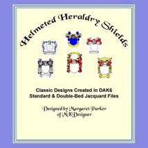 Helmeted Heraldry Shields Hand Knit Color Graph... - $3.00