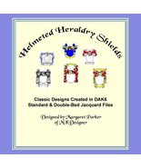 Helmeted Heraldry Shields Hand Knit Color Graphs Machine Knit DAK - $3.00