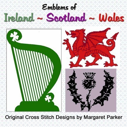Scotland - Ireland - Wales CROSS STITCH - 3 ePatterns