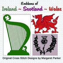 Scotland - Ireland - Wales CROSS STITCH - 3 ePatterns - $4.00
