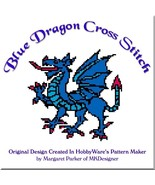 Blue Dragon Cross Stitch HobbyWare pat File or Graph - $3.00