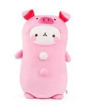 Seyoung Fluffy Stuffed Cute Pink Pig Figurine Animal Soft Mochi Plush Toy