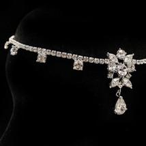 CZ Crystal Rhinestone Reniassance Goddess Forehead Bridal Wedding Headpiece - $94.95