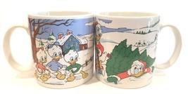 Walt Disney Mugs Daffy Duck & Family Christmas ~ Set of 2 - $29.99