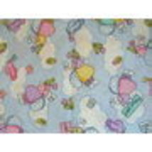 EASTER MINI PRINTS ANGEL BUNNY BUTTERFLY TULIP FABRIC - $12.99